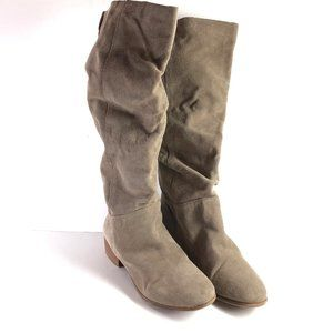 STEVE MADDEN PONDROSA Slouch Taupe Suede Boots 7